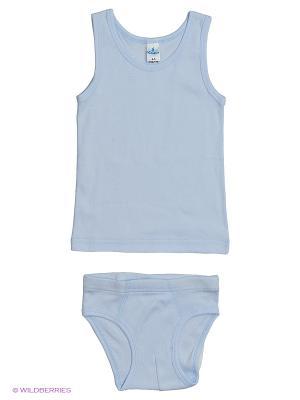 Майка+трусы мал.  MK0110 11 цвет белый Квирит. Цвет: голубой