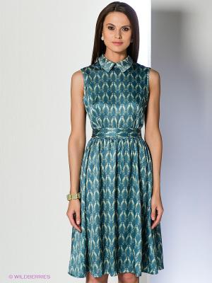 Платье Анна Чапман. Цвет: бирюзовый, светло-зеленый