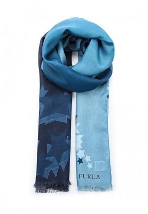 Палантин Furla. Цвет: синий