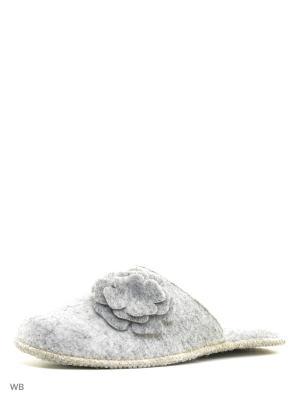 Тапочки Inblu. Цвет: серый, бежевый