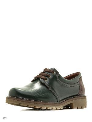 Ботинки Walrus. Цвет: зеленый, коричневый