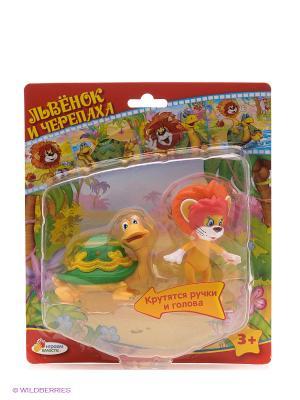 Набор из 2-х фигурок Львенок и черепаха Играем вместе. Цвет: красный
