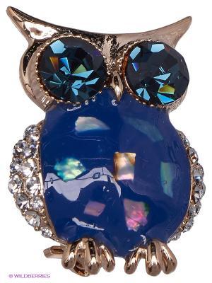 Брошь Lovely Jewelry. Цвет: синий