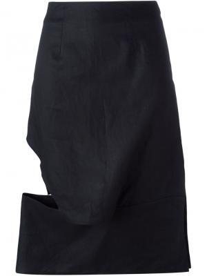 Юбка асимметричного кроя Eckhaus Latta. Цвет: чёрный