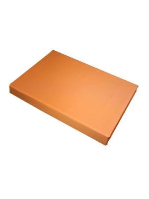 Простыня на резинке 200*90 BegAl. Цвет: оранжевый