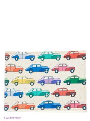 Обложка для студенческого Цветные машинки Mitya Veselkov. Цвет: светло-бежевый, зеленый, синий