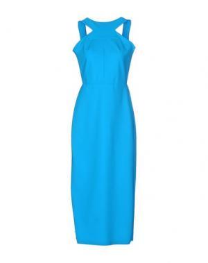 Длинное платье GRETA CONSTANTINE. Цвет: лазурный