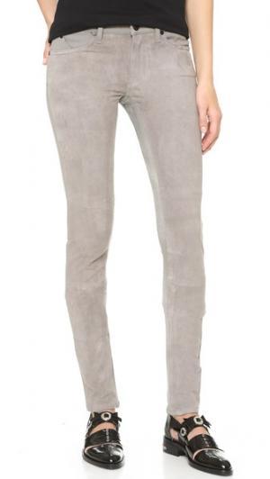 Замшевые брюки Flash Friend Superfine. Цвет: мягкий серый