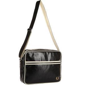 Сумка через плечо  Classic Shoulder Bag Black/Beige Fred Perry. Цвет: черный,бежевый