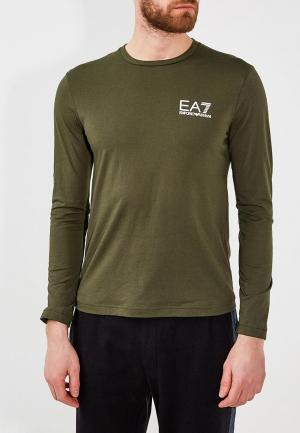 Лонгслив EA7. Цвет: зеленый