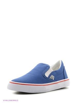Слипоны 4U. Цвет: темно-фиолетовый, серо-голубой, темно-синий