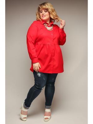 Блузка Jetty-plus. Цвет: красный