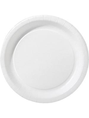 Тарелки бумажные, диаметр 22 см DUNI. Цвет: белый
