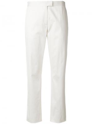 Укороченные брюки с завышенной талией Ps By Paul Smith. Цвет: белый