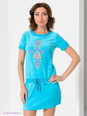 Платье NicClub. Цвет: бирюзовый