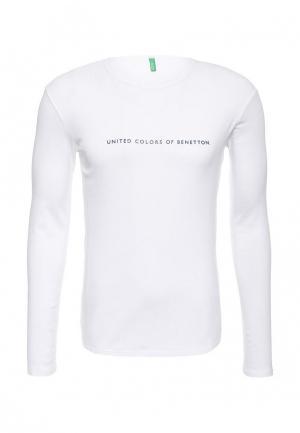 Лонгслив United Colors of Benetton. Цвет: белый