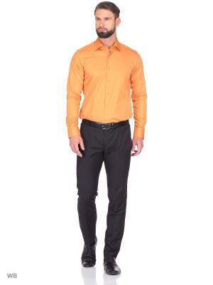 Рубашка KARFLORENS. Цвет: оранжевый
