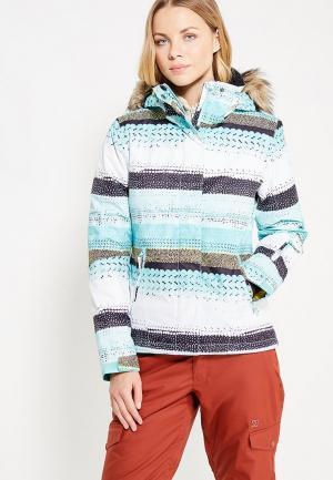 Куртка горнолыжная Roxy. Цвет: бирюзовый