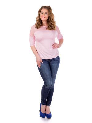 Блузка Liza Fashion. Цвет: розовый