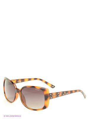 Солнцезащитные очки Polaroid. Цвет: коричневый, серый