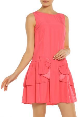 Полуприлегающее платье с потайной молнией RED Valentino. Цвет: 019