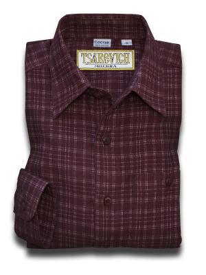 Рубашка Tsarevich. Цвет: бордовый