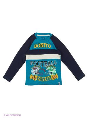 Лонгслив Bonito kids. Цвет: бирюзовый