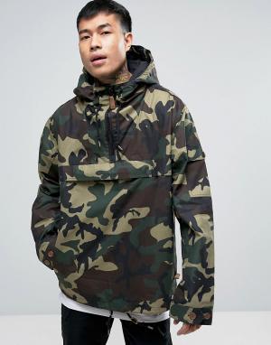 Dickies Куртка через голову с камуфляжным принтом. Цвет: черный