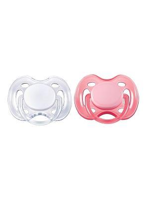 Пустышки Philips Avent серия Freeflow SCF178/23, 2 шт., 0-6 мес.. Цвет: розовый, прозрачный