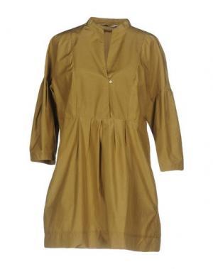 Короткое платье CALIBAN. Цвет: хаки