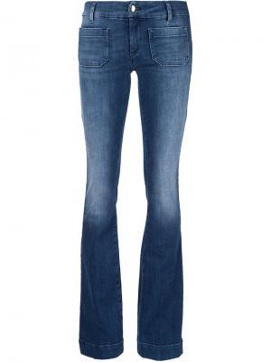 Слегка расклешенные джинсы  Circle The Seafarer. Цвет: синий