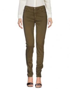 Повседневные брюки AG ADRIANO GOLDSCHMIED. Цвет: зеленый-милитари