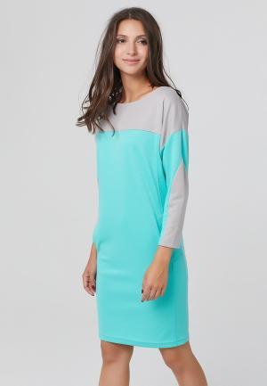 Платье Fly. Цвет: бирюзовый