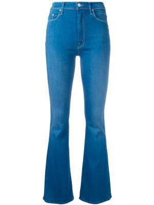 Расклешенные джинсы Mother. Цвет: синий