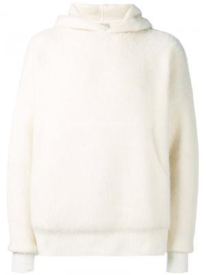 Толстовка с карманами спереди Laneus. Цвет: белый