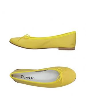 Балетки REPETTO. Цвет: желтый