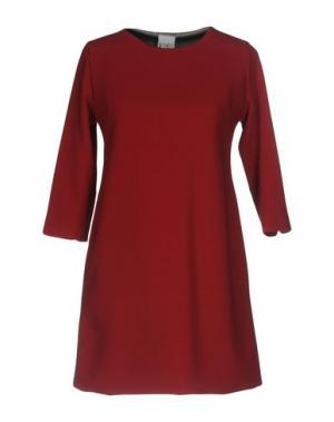 Короткое платье PF PAOLA FRANI. Цвет: кирпично-красный
