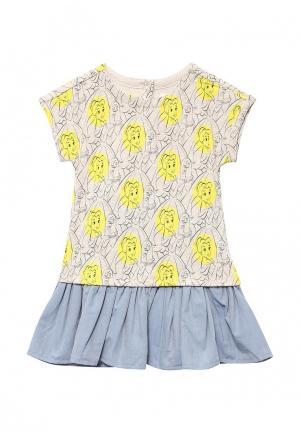 Комплект платье и трусы Gap. Цвет: бежевый