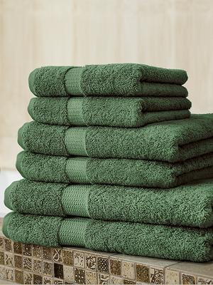 Полотенце DOMO. Цвет: зеленый