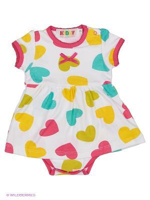 Боди Kidly. Цвет: белый, зеленый, голубой, розовый, желтый