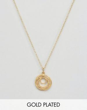 Ottoman Hands Ожерелье с подвеской Сакральная чакра. Цвет: золотой