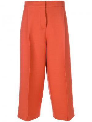 Укороченные брюки строгого кроя Fendi. Цвет: жёлтый и оранжевый