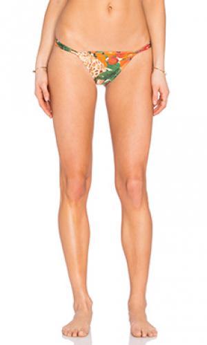 Низ бикини в бразильском стиле AGUADECOCO. Цвет: оранжевый