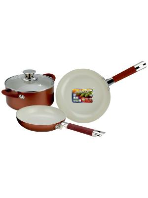 Набор кухонной посуды Vitesse. Цвет: красный