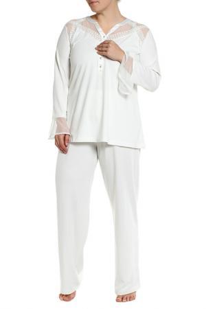 Пижама с брюками Relax Mode. Цвет: молочный