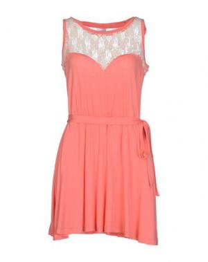 Короткое платье EMPATHIE. Цвет: лососево-розовый