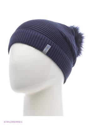 Жаклин Беркле шапка женская с помпоном Berkle. Цвет: темно-синий
