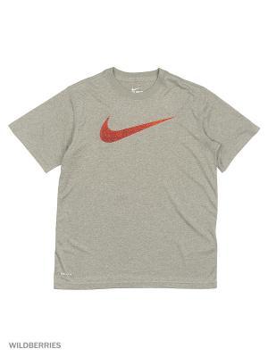 Футболка LEGEND TALISTATIC SWSH TEE YTH Nike. Цвет: серый, черный