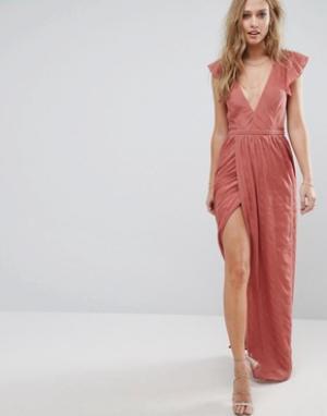 The Jetset Diaries Платье макси Getaway. Цвет: розовый
