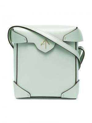 Сумка Mini Pristine Manu Atelier. Цвет: зелёный